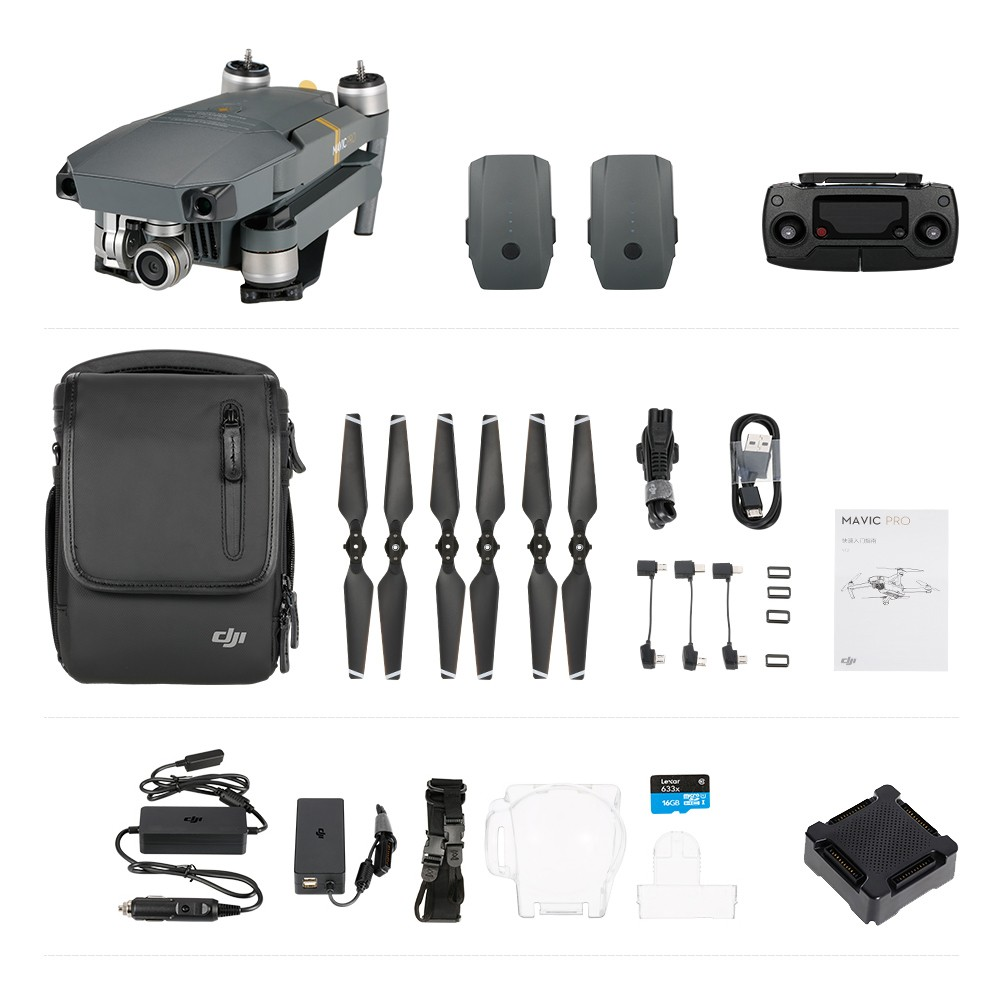 DJI Mavic Pro Foldable Obstacle Avoidance Drone FPV RC Quadcopter Fly More Combo