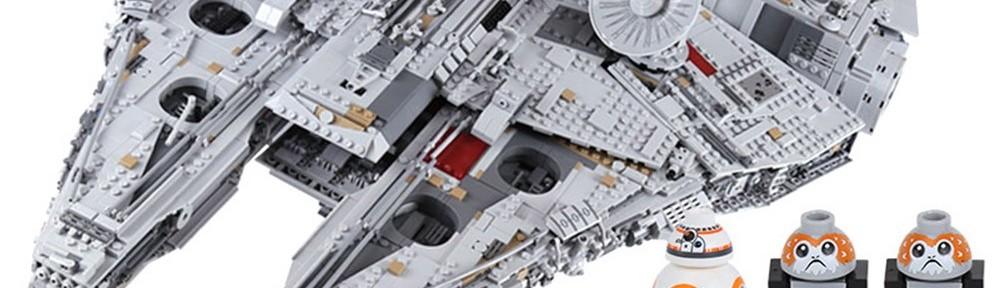 Original Box LEPIN 05132 8445pcs Star Wars Spaceship Ultimate Millennium Falcon Force Awakens Building blocks Kit Set