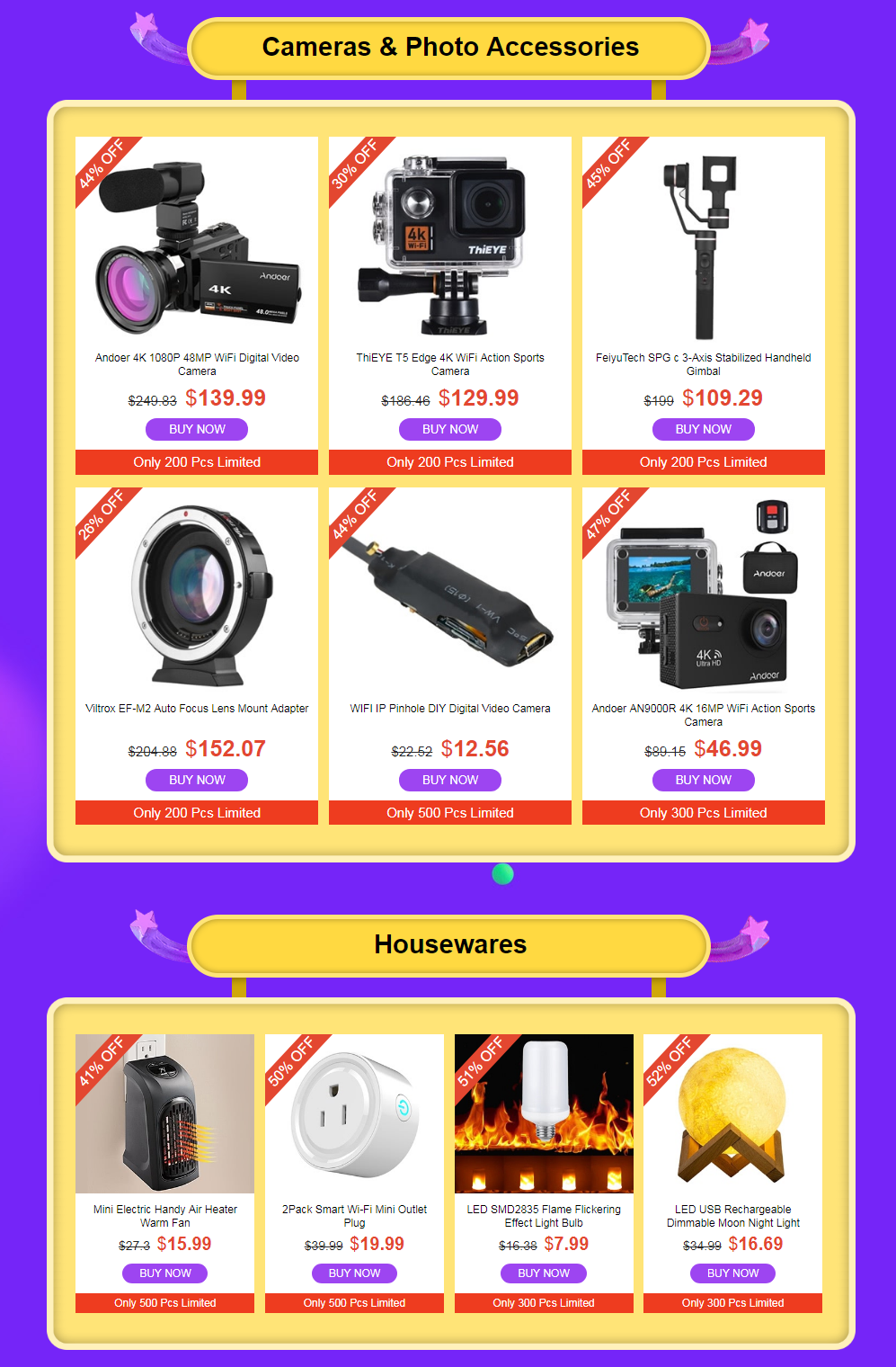 camera houseware  tomtop winter Clearance