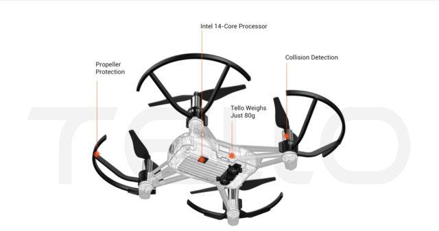 RYZE Tello RC Drone 720P WiFi FPV 5MP Camera