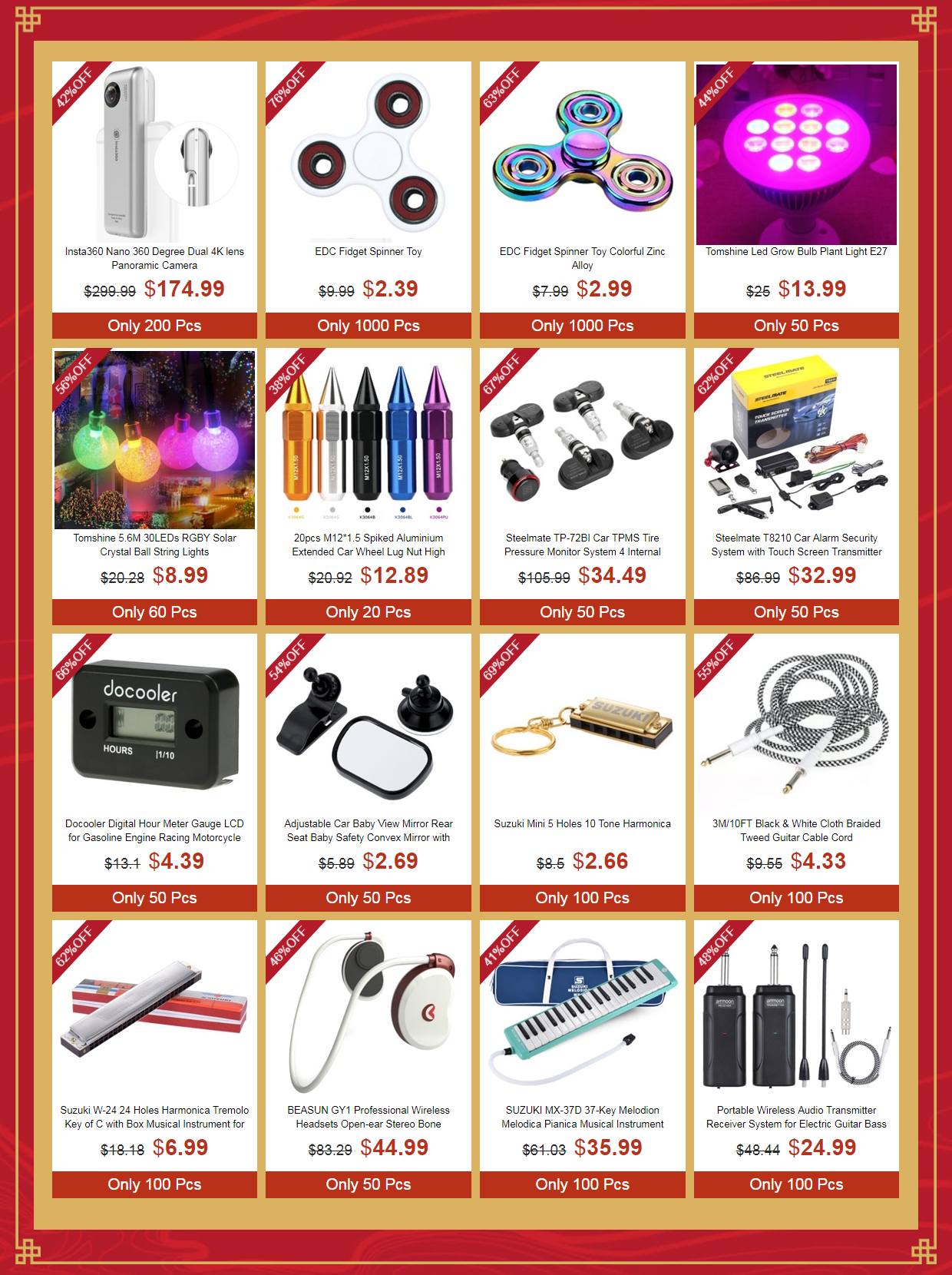 2018 New Year Unbeatable Clearance Sale, Up to 83% Off | Tomtop