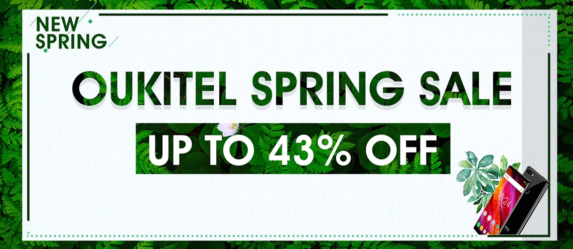 OUKITEL Smartphone Spring Sale, Up to 43% Off, From $84.99  | Tomtop