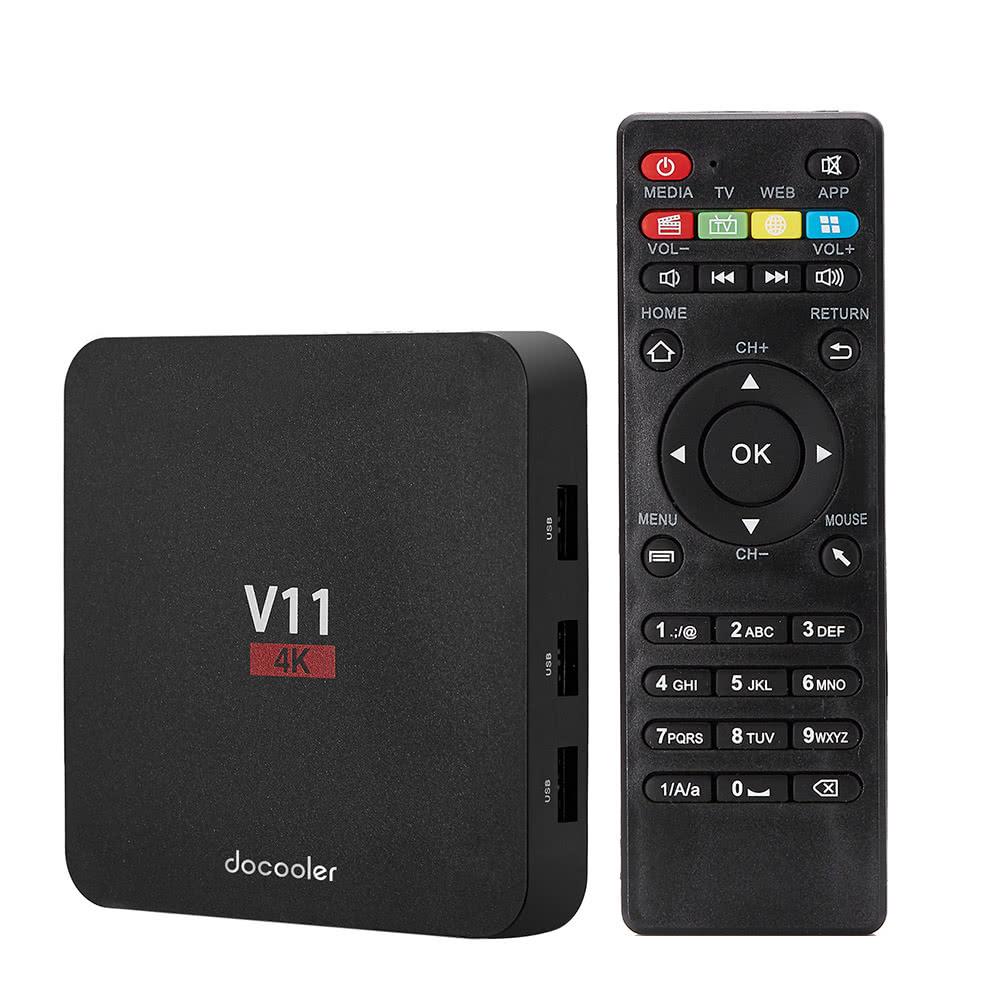Docooler V11 Android 6.0 TV Box KODI 16.1 RK3229 2G + 8G
