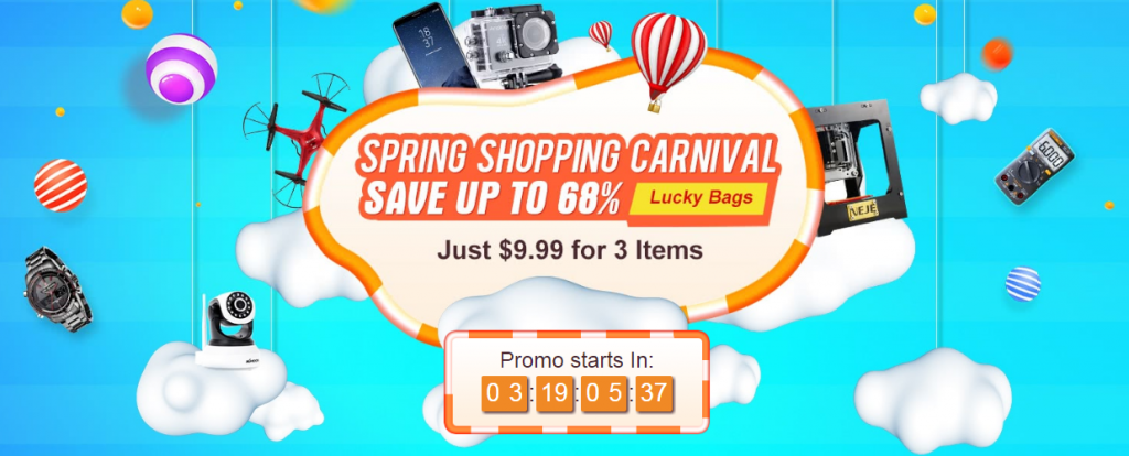 2018 Spring Shopping Carnival, Just $9.99 for 3 Item
