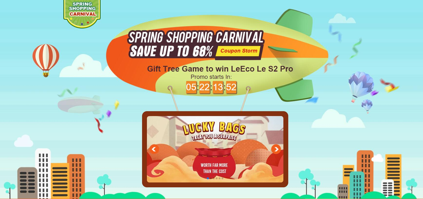 tomtop spring shopping carnival