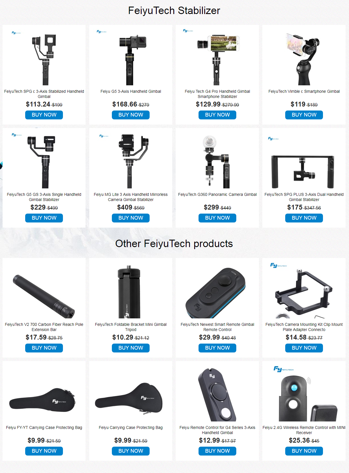 FeiyuTech Products with Promotional Sale, Save Up to $740