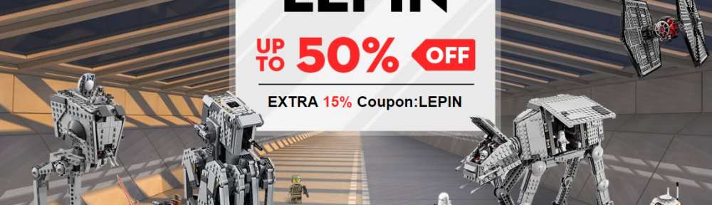 LEPIN Building Toys Up to 50%+Extra 15% off Coupon