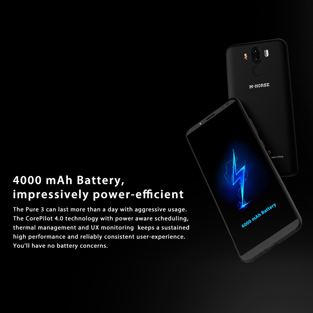 M-HORSE Pure 3 4G Smartphone 4GB RAM 64GB ROM