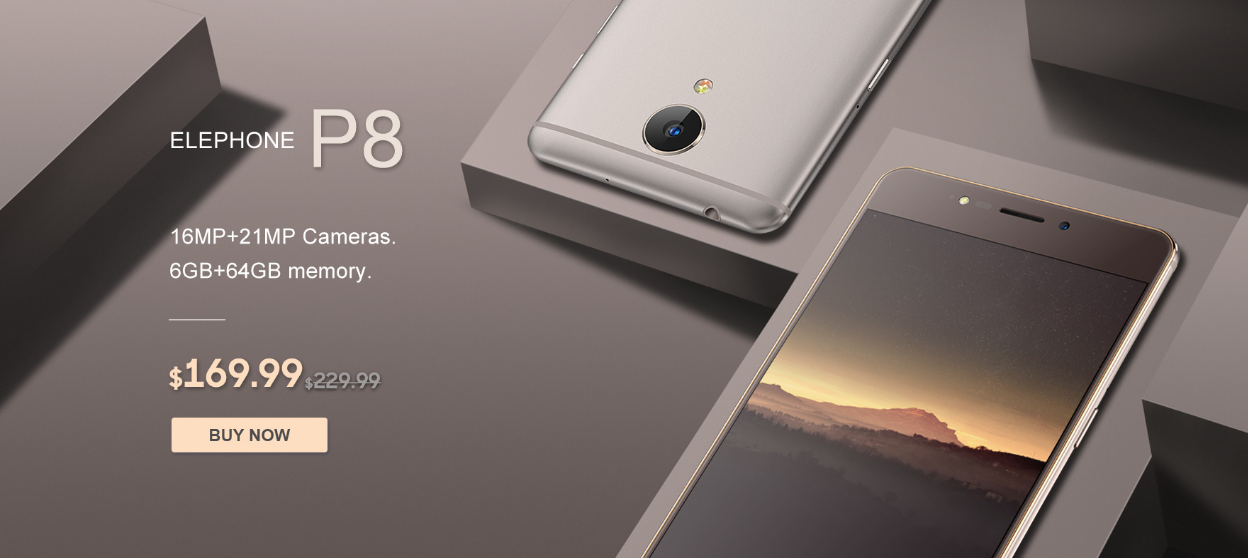 ELephone P8 4G Smartphone with Flash Sale, Only $169.99