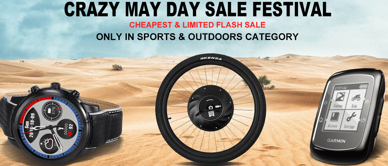 Sports and Outdoor Equipment Crazy May Day Sale, From $9.9