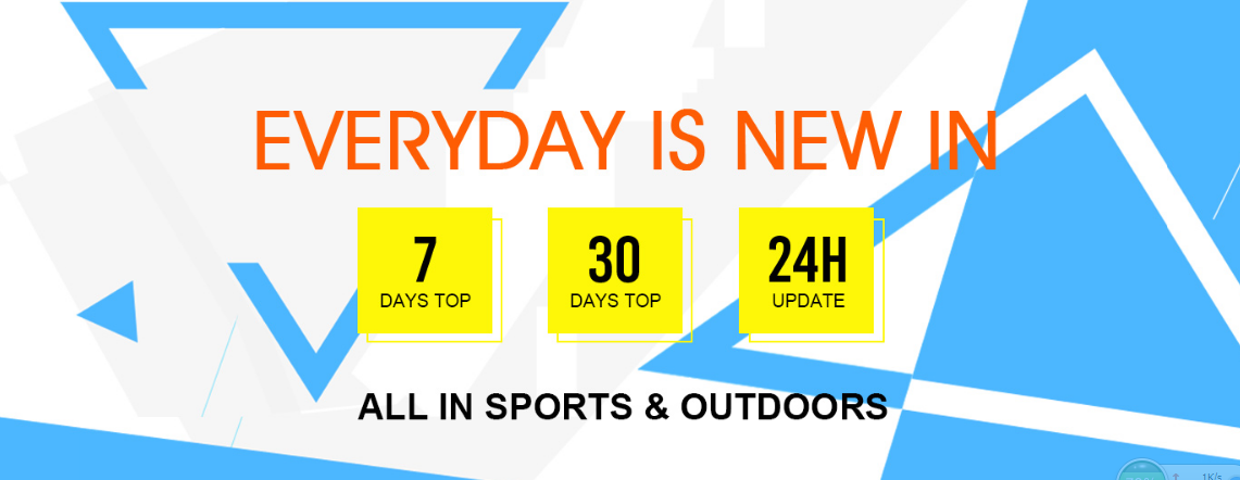 Sports Equipment and Outdoor Gear Promotional Sale, Every day is New In