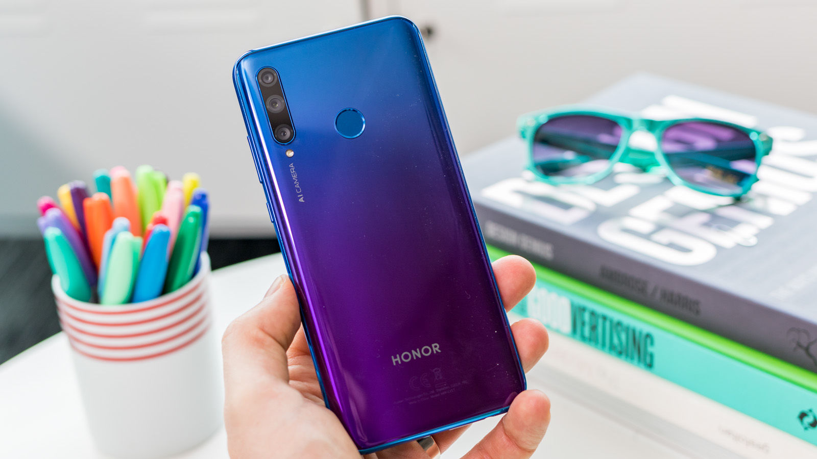 Huawei Honor 20 Lite with three cameras